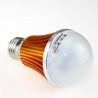 ZHISHUNJIA E27 9W 680lm 3000K 18 x SMD 5630 LED Warm White Light Bulb - White + Golden (85~265V)