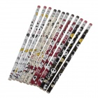 M&G AWP30805 HB Rubber Cap Pencil - Multicolored (12 PCS)