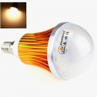 ZHISHUNJIA E14 9W 680lm 3000K 18 x SMD 5630 LED Warm White Light Bulb - White + Golden (85~265V)