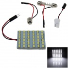 T10 / BA9S / Festoon 7.2W 720lm 36 x SMD 5630 LED White Light Car Reading / Panel Light - (12V)