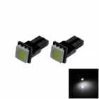 T5 / 74 0,2 W 18lm 1 x 5050 LED PCB White Light Car Instrument / Anzeigeleuchte - (DC 12V / 2 PCS)