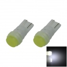 Ceramic T10 / 194 / 168 1W 80lm LED White Soft Light Car Side Light / Reading lamp - (12V / 2 PCS)