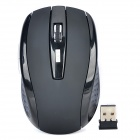 LSON 2.4GHz Wireless 800DPI / 1600DPI Optical Mouse - Black (2 x AAA)