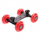 DEBO I Floor Table Video Slider Track Dolly Car for DSLR Camera / Camcorders - Black + Red