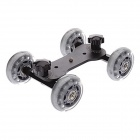 DEBO I Floor Table Video Slider Track Dolly Car for DSLR Camera / Camcorders - Black + Silver Gray
