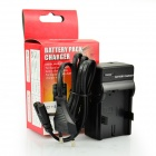 DSTE EN-EL14 EU Plug Battery Charger for Nikon D3200 D5200 P7700 P7800 + More SLR cameras - Black