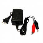 12V 1250mA Motorcycle / Electronic Vehicle / Car Battery Smart Charger - Black (US Plug / 100~240V)
