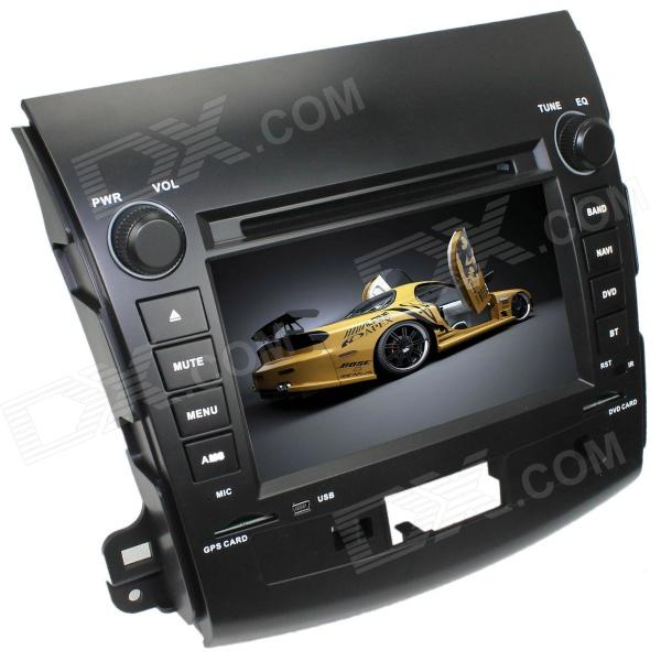 LsqSTAR 7 2-Din Car DVD Player w/ GPS,RDS,AUX,SWC,Radio,PIP,MP5,BT,Can bus for Mitsubishi outlander 1563u 1 din 12v car radio audio stereo mp3 players cd player support usb sd mp3 player aux dvd vcd cd player with remote control