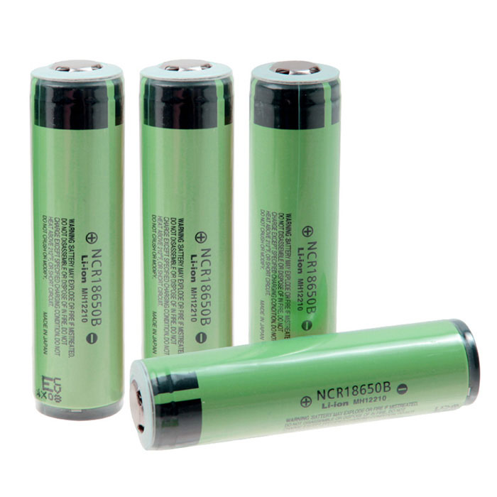 Panasonic Rechargeable 18650 3400mAh Li-ion Batteries - Yellowish Green + Black (4 PCS) panasonic ncr18650b super max 3 7v 3400mah rechargeable li ion battery black green