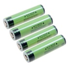 Panasonic 18650 3400mAh Li-ion Batteries -Yellowish Green+Black (4PCS)