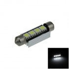 Canbus Festoon 41mm 1W 60lm 4 x SMD 5050 LED White Car Roof light / Reading Lamps w/ Heat Sink (12V)