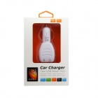 Dual USB Car Charger Cigarette Lighter - Branco (12V)