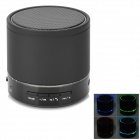 S08 Portable 3W Bluetooth V3.0 Speaker w/ Micro SD / TF / FM / Microphone - Black