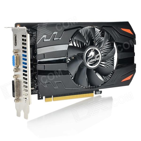 FARGERIKE GT640-1GD5 PCI-E NVIDIA GeForce GT640 GK107 grafikk Card - sort-rød
