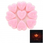 Rose Fragrance Heart Shaped Romantic Candle - Light Pink + White (9PCS)