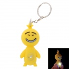 Facial Expression LED Keychain - Yellow (3 x AG10)