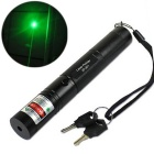 G301 532nm Visible Adjustable Beam Green Laser Pointer Pen + Battery Charger - Black