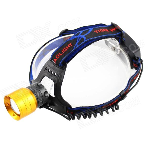 Sipids SP40 LED 800lm 3-Mode White Zooming Headlight - Golden (2 x 18650)