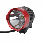 RichFire SF-90 LED 800lm White 4-Mode Bicycle Headlight Headlamp - Gray + Red (4 x 18650)