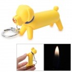 Cute Cartoon Dog Red Flame Butane Lighter - Yellow + Blue