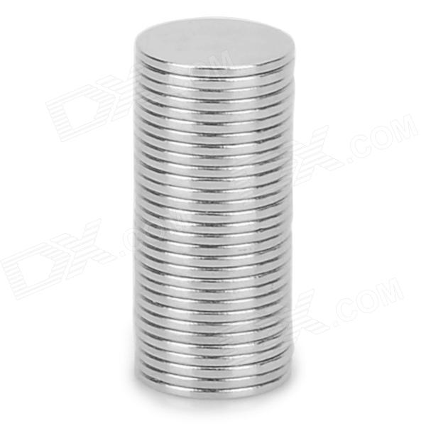 NdFeB N35 Lanthanon Permanent Magnets - Silver (30 PCS)