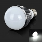 GHL-Q252 E27 5W 350lm 6000K 24-3528 SMD LED White Light Lamp - Translucent White + Silver