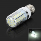 E27 7W 6500K 120lm 120-3014 SMD LED White Light Corn Lampe - Weiß + Silber Grau (AC 85 ~ 265V)