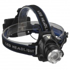 RichFire SF-536 800lm CREE XM-L T6 3-Mode White Zooming Focus Headlight - Black + Blue (2 x 18650)