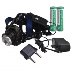 RichFire SF-536 800lm LED 3-Mode Blanco Zoom Focus Faro - Negro + Azul (2 x 18650)