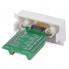 Female HDMI Adapter Module Socket Wall Panel  - White + Green