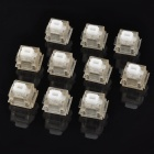 High Quality Keyboard Switches Buttons - White + Silver (10 PCS)