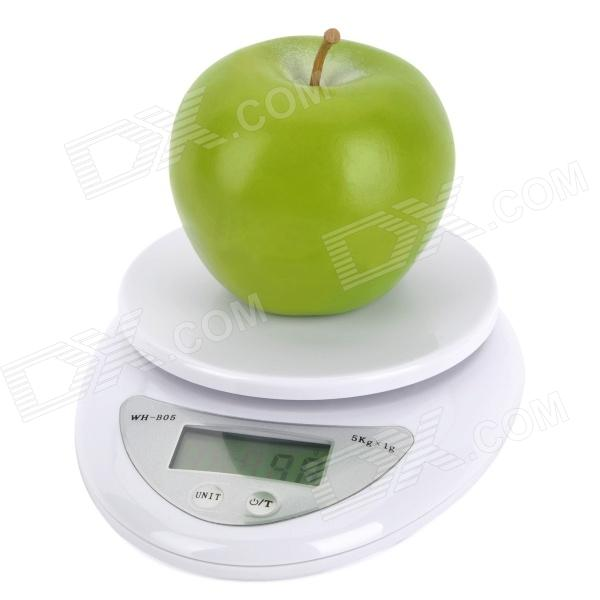 "1.7"" LCD Digital Kitchen Scale (5kg Max/1g Resolution)"
