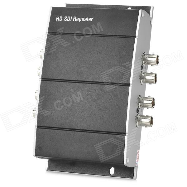 4- BNC HD SDI / SD / 3G - SDI Repeater - Sort + Silver ( DC 5 ~ 24V )