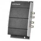 4-BNC HD SDI / SD / 3G-SDI Repeater - Black + Silver (DC 5~24V)