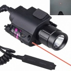 M6 Multifunctional 2-in-1 Cree XP-E R4 350lm White Flashlight + Red Laser - Black (1 x CR123A 3V)