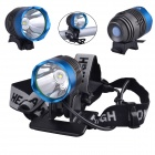 RichFire SF-90 Cree XM-L T6 800lm White 4-Mode Bicycle Headlight Headlamp - Blue + Gray (4 x 18650)