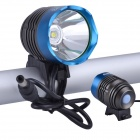 RichFire SF-90 LED 800lm White 4-Mode Bicycle Headlight Headlamp - Blue + Gray (4 x 18650)