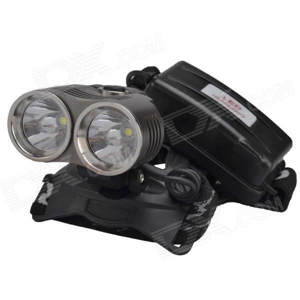 RichFire SF-621 2-LED 1600lm 3-Mode White Headlamp HeadlightHeadlamps<br>Form ColorGrey + SilverBrandRichFireModelSF-621Quantity1 DX.PCM.Model.AttributeModel.UnitMaterialAluminum alloy+Stainless steelEmitter BrandCreeLED TypeXM-LEmitter BINT6Color BINCold WhiteNumber of Emitters2Working Voltage   4.2 DX.PCM.Model.AttributeModel.UnitPower Supply2 pcs 18650 Li-ion batteriesCurrent2.5*2 DX.PCM.Model.AttributeModel.UnitTheoretical Lumens1600 DX.PCM.Model.AttributeModel.UnitActual Lumens1500 DX.PCM.Model.AttributeModel.UnitRuntime3 DX.PCM.Model.AttributeModel.UnitNumber of Modes3Mode ArrangementHi,Low,Fast StrobeMode MemoryNoSwitch TypeReverse clickySwitch LocationSideLensGlassReflectorAluminum SmoothBand Length40 DX.PCM.Model.AttributeModel.UnitCompatible Circumference35-60cmBeam Range200 DX.PCM.Model.AttributeModel.UnitOther FeaturesHigh brightness / hard anodizingCertificationCE/RoHSPacking List1 x Headlamp 2 x 18650 batteries 1 x AC power charger adapter (Input: AC 100~240V / 50~60Hz; Output: DC 4.2V / 500mA; 2-flat-pin plug; 94cm-cable) 1 x Car charger (53cm-cable, 12~24V)1 x 2-Round-pin plug 1 x English user manual<br>