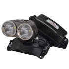RichFire SF-621 2-LED 1600lm 3-Mode White Headlamp Headlight - Grey + Silver (2 x 18650)