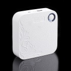 IWOI WP902 Portable 7800mAh Lithium Batterie Mobile Power Source w / lampe de poche - Blanc