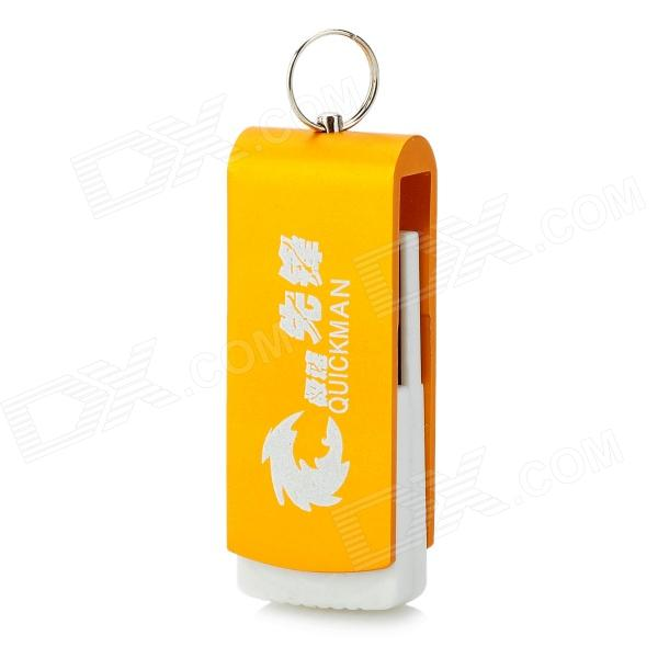 Portable Revolving Keyring Aluminum Alloy USB 2.0 Flash Drive - Golden (32GB)