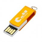 Rotatorio USB aleación de aluminio llavero Portable 2.0 Flash Drive - Golden (32 GB)