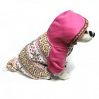 Snow Pattern Thicken Sweater Pet Clothes - Pink (Size-L)