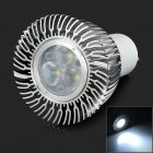 GU10 6W 150~450lm 6500K 3-LED White Light Spotlight - White + Silvery Grey (AC 85~265V)