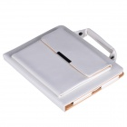 Protective PU Leather Case w/ Handbag / Peripherals Pockets for IPAD 2 / 3 / 4 - White
