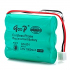 "GD 501 3.6V ""1800mAh"" Rechargeable Cordless Phone Replacement Battery Pack - Green"