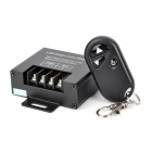 LED Single Color RF Dimmer w/ 3-key Controller - Black (DC 12~24V)
