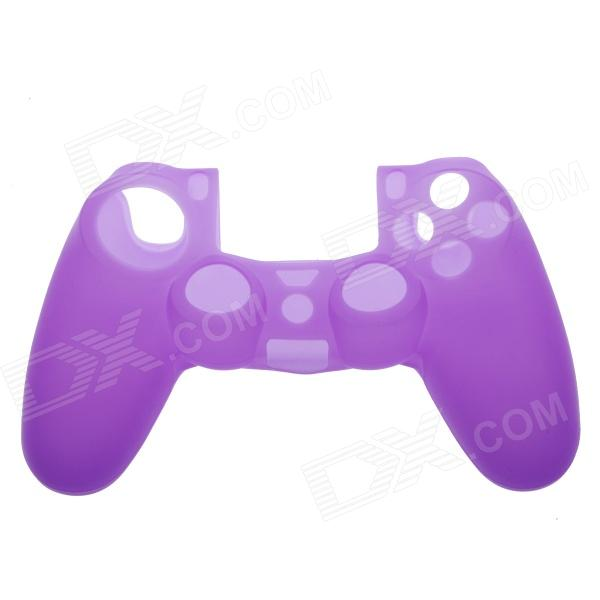 Protective Silicone Case for PS4 Controller - Purple soft silicone anti noise earplug with cable and case purple