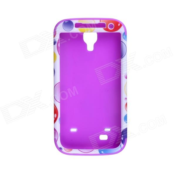 CM01 Bubble Pattern Protective Silicone Back Case for Samsung Galaxy S4 i9500 - Multicolored protective cute spots pattern back case for samsung galaxy s4 i9500 multicolored