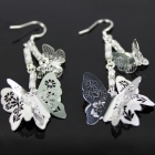 Beautiful Silver Butterfly Earrings - Silver (Pair)